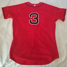 TEAM ISSUED or GAME WORN Boston Red Sox MLB #3 red alternate jersey size 48