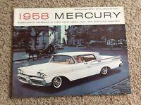 1958 Mercury  original dealership showroom deluxe color sales catalogue