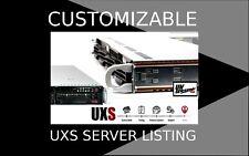 UXS Server Variant 1U Supermicro X9DRI-LN4F+ Rev 1.20 to E5-2670 V2 256GB RAM