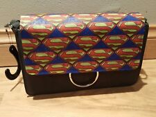 dc comics - superman logo themed handbag - hand made