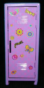 Love & Peace Glitter Locker Decor Butterfly Desk Metal Storage Locker