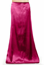 Saree Petticoat Underskirt Satin Silk bollywood belly dancing slip Fuchsia Pink