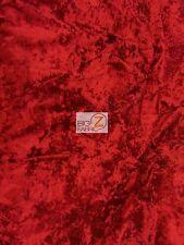 """CRUSH FLOCKING UPHOLSTERY VELOUR VELVET FABRIC - Red - 56/57"""" WIDE BY YARD"""