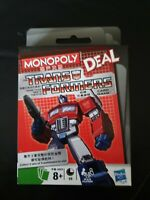 MONOPOLY - TRANSFORMERS - DEAL- CARD GAME - SEALED.