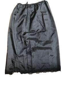 Damen Unterrock mit Gummizug Underskirt Jupon Lang Lingerie Vintage38