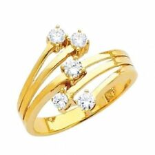 Yellow Gold-Studded Irregular Horse-Eye Plated Multiply Crystal Cocktail Square
