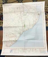 1959 Vintage Militär Karte von Schottland Caithness Wick Original War Büro Issue