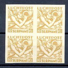 SURINAME LP 19  BLOK VAN 4  -  PROOF ONGETAND (*)    PR EX    CERTIFICAAT @1