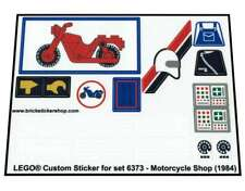 Precut Custom Replacement Stickers voor Lego Set 6373 - Motorcycle Shop (1984)