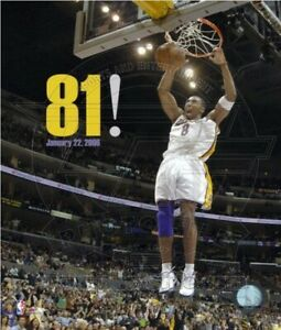 "Kobe Bryant Los Angeles Lakers 81 Point NBA Game Photo (8"" x 10"")"