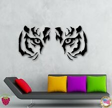 Wall Stickers Vinyl Decal Animal Tiger Raptor Tribal Eyes Wall Decor Mural ig026