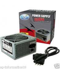 ALIMENTATORE PC 600W 600 WATT CASE DESKTOP ATX VULTECH 12CM 24 PIN 3 SATA