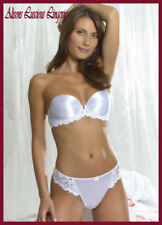 Splendeur blanc bustier push up soutien-gorge façon multi 38 ° c string grand 14/16 set