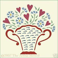 FLOWER BASKET STENCIL - The Artful Stencil