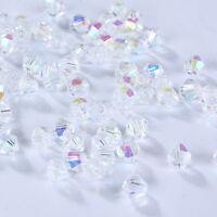 New DIY Jewelry 3mm Glass Crystal AB bead #5301 Bicone Charm beads 100-1000pcs