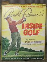 1961 ARNOLD PALMER'S Inside Golf 9 Hole Board Game Include Golf Ball Play Pieces