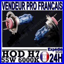 AMPOULE PLASMA HOD H7 55W LAMPE HALOGENE FEU EFFET XENON BLANC BLANCHE 6000K 12V