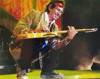 """""""The Rolling Stones"""" Keith Richards Signed 8X10 Color Photo Todd Mueller COA"""