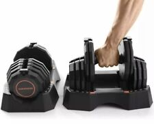 Weider 100lb Adjustable Dumbbell Set (50lb each) Select-a-Weight w/ Storage Tray