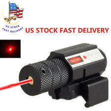 Red Dot Laser Sight Scope Rifle Pistol Compact Picatinny 11/20mm Mount For Hunt