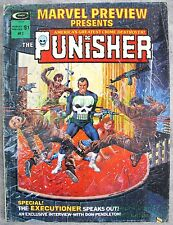 Marvel Preview Presents Magazine #2 1975 The PUNISHER 1st Origin Story KEY ISSUE