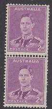 AUSTRALIA :1942 2d bright purple  coil  pair  SG185a MNH