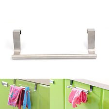Over Door Tea Towel Holder Rack Bathroom Rail Cupboard Hanger Kitchen Bar Hook Q