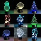 3D illusion Night Light 7 Color Changing LED Desk Table Lamp Christmas Toy Gift