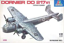 Italeri Model 1/72 Dornier Do 217 K1 German Bomber - #105 Used /NO DECALS