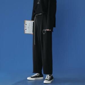 Men's Gothic Punk Hiphop Boys Sport Loose Fashion Trousers Wide leg Pants Size
