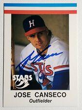 1985 Jose Canseco AAMER Sport Huntsville Stars Pre RC Autograph A's Card, Auto