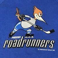 Phoenix Roadrunners Arizona Hockey Sweatshirt M/L Vintage USA Made 1990 IHL Rare