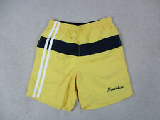VINTAGE Nautica Swim Trunks Shorts Adult Small Yellow Blue Bathing Suit Men 90s