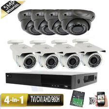 8Channel All-in-1 Dvr 5Mp 4-in-1 24Ir & 36Ir Dwdr Security Camera Ip66 Wi
