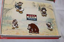 Disney 6 pin set GOOD SCOUTS donald huey dewy louie BEAR animated book LE box