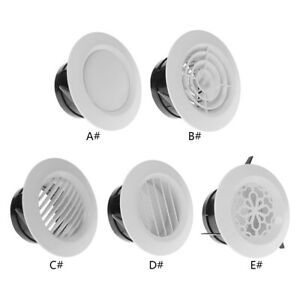 Air Vent Extract Valve Grille Round Diffuser Ducting Ventilation Cover 100mm New