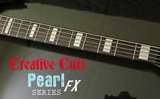 Blocks AGED VINTAGE PEARL Fret Marker block Stickers for 5 STRING BASS Guitar