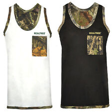 Mens Jungle Camo Vest RealTree Hunting Fishing  Combat Army Tank Top M up to XL