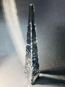 Baccarat Crystal Cut Clear Obelisk Sculpture , Excellent Condition, FRANCE