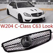 Nuevo Mercedes Benz Clase C W204 C63 Estilo Parrilla frontal deportiva AMG & Insignia 07-2013