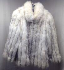 Niki Blue Fox Coat Long Sleeve Size M