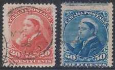 CANADA 1888-97 QUEEN VICTORIA Sc 46 & 47 TOP VALUES USED SCV$210.00
