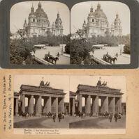 18 STEREOFOTOS VON BERLIN UM 1900, SERIE 7