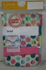5 Pack Girls Briefs Panties Size 14 Cotton Tagless Underwear Emoji Pink Smiley