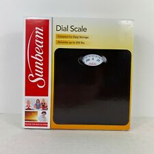 Sunbeam Full View Dial Bathroom Scale SAB700-05 New Black Accurate to 300 lbs