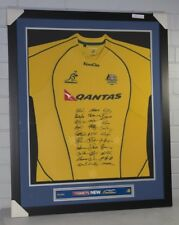 Wallabies World Cup Team 2011 signed and framed jersey