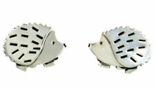 Hedgehog Stud Earrings 925 Sterling Silver Artisan Handcrafted - Gift Boxed