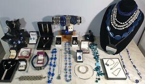 Estate Vintage jewellery 925. sterling silver,  bulk rings turquoise lapiz lot
