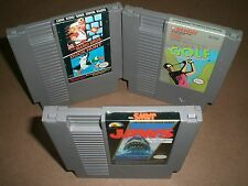 Mario Bros Duck Hunt, Bandai Golf & Jaws in VERY GOOD COND for NES Nintendo!