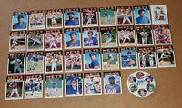 1986 Topps New York Mets Team Card Set & BONUS Shea Stadium World Series 4X4 Pin